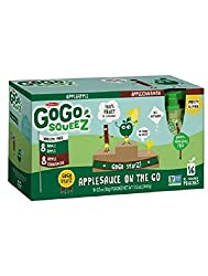 Gogo Squeez Applesauce Go, Variety Pack (Apple Appleapple Cinnamon), 3.2 Ounce Portable Bpa-free Pouches, Gluten-free, 16 Total Pouches