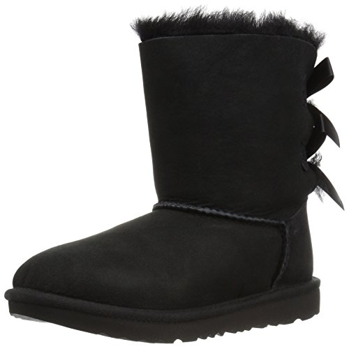 UGG Kids K Bailey Bow II Fashion Boot, Black, 6 M US Big -