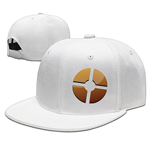 Show Time Fortress Style Logo Unisex Brim Hat Snapback Flat Bill Cap White