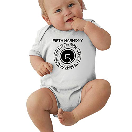 Fifth Harmony Unisex Baby Boy Girl Bodysuits Short Sleeve Infant Cotton Clothes for 0-24 Month 0-3M White]()