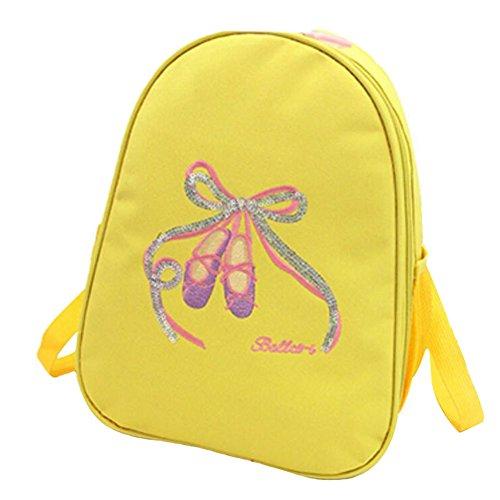 George Jimmy Kids Dance Bags Travel Backpack School Bags Girls Backpacks Side Bags Yellow by George Jimmy