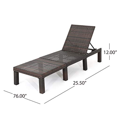 Christopher Knight Home Joyce Outdoor Multibrown Wicker Chaise Lounge Without Cushion by Christopher Knight Home (Image #6)