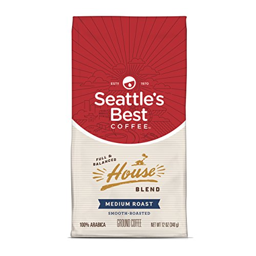 Seattle's Best Coffee House Blend Medium Roast Ground Coffee, 12-Ounce Bag