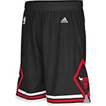 Chicago Bulls Youth Black Swingman Baskeball Shorts By Adidas
