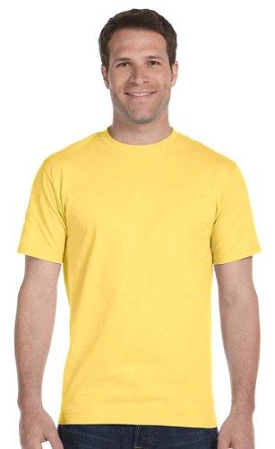 Hanes Men's Short Sleeve Beefy T-Shirt (Daffodil Yellow, - Gear T-shirt Yellow