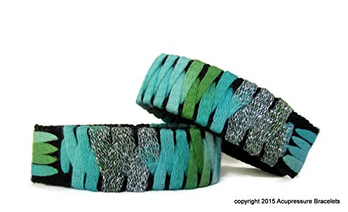 Designer Motion Sickness Bracelets for Nausea (pair) Turquoise Tradewinds (small/child 6.5