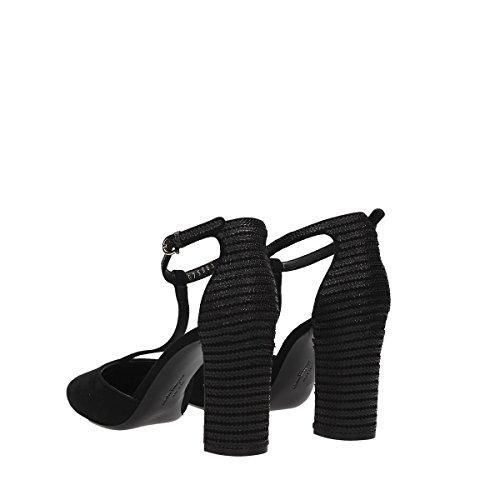 Salvatore Noir Talons Suède Ferragamo À Chaussures Femme 0654159 xwqCrx