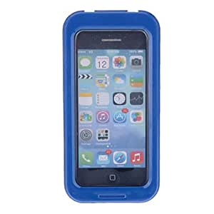 FJM Stylish Solid Color Frame Universal Waterproof Underwater Pouch with Strap for iPhone 4/4S/5/5S and Other (Assorted Colors) , Black