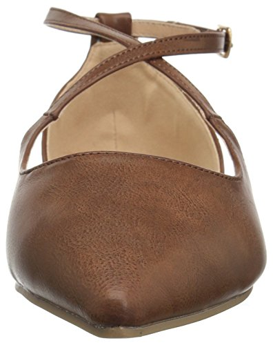 Brinley Co Womens Melly Ballet Flat Brown