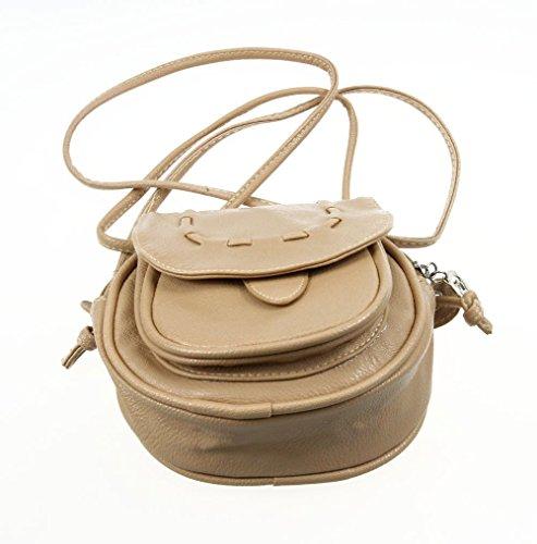 de Navidad Café Niñas Mini 1PCS LAAT para Artículos Llevar Mujer Piel Uso café PU Cotidiano para Bandolera 146pq