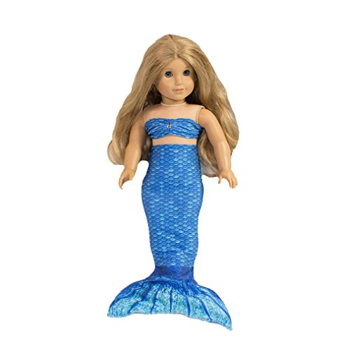 Fin Fun Mermaid Tail Outfit for 18 Inch Doll like American Girl - Crystal's Arctic Blue