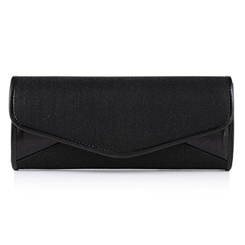 Damara - Bolso de mano Para Mujer, diseño Purpurina negro