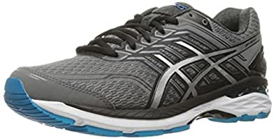 ASICS Men's GT-2000 5 Running Shoe, Carbon/Silver/Island Blue, 6 M US