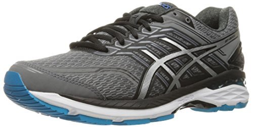 ASICS Men's GT-2000 5 Running Shoe, Carbon/Silver/Island Blue, 10 M US