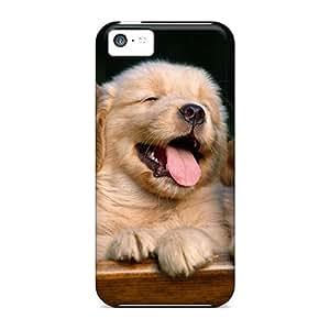 New Arrival Premium 5c Case Cover For Iphone (the Cutest Golden Retriever Pups)