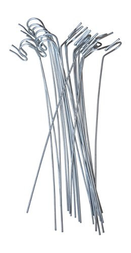 Annys Lawn Stakes for Christmas Yard Lights-Heavy Duty Galvanized Steel Wire 10 long 20 per pack-for Sidewalk or Driveway Decorating (4)