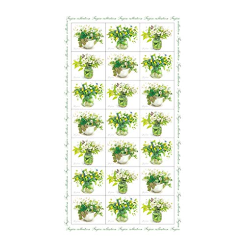 Frontia Cute Flower Floral Japanese Stickers Seals Envelope Masking Paper Decoratiove Gift Label