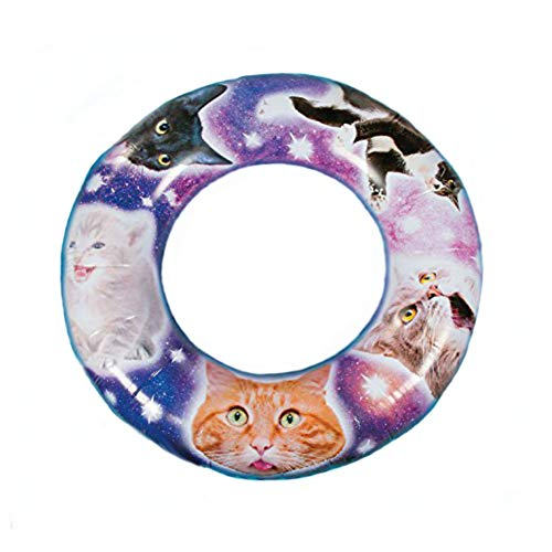 Fun Express Inflatable Space Cat Pool Float for Swimming Pool, Beach and ()