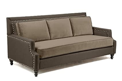 Amazon.com: Loni M. Designs Madrid Sofa, Dark Brown: Kitchen ...