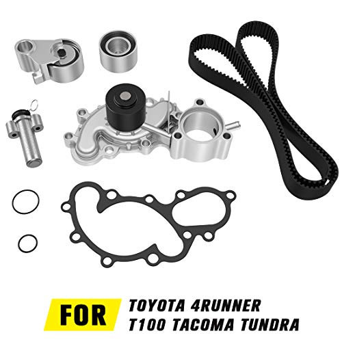 Water Pump Timing Belt Kit with Gasket For Toyota 4Runner 1996-2002, T100 1995-1998, Tacoma 1995-2004, Tundra 2000-2004 3.4L V6