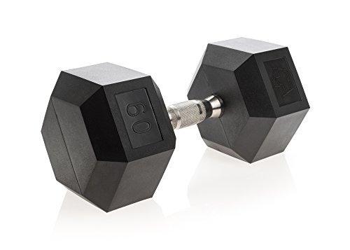 Dura-Bell Urethane Hexagon Ergo Handle Dumbbell (Set of 2) Weight: 60 lbs.