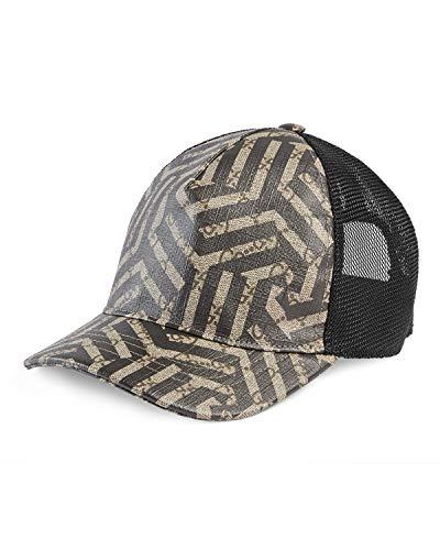 Gucci GG Supreme Caleido Baseball Hat, 426887 (X-Large (60 cm / 23.6 in)) Beige/Black