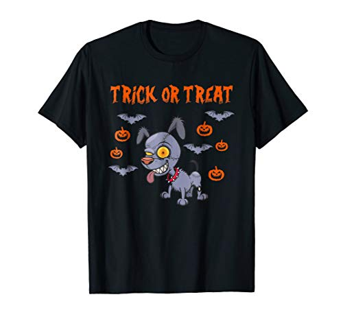 Trick or Treat Halloween Scary Dog T-shirt -