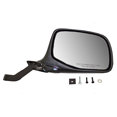 - Passengers Manual Side View Paddle Type Mirror Black & Chrome Replacement for Ford SUV Pickup Truck F7TZ17682DAA AutoAndArt