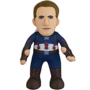 Bleacher Creatures Marvel Captain America 10″ Plush Figure – A Superhero for Play and Display
