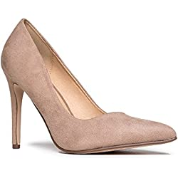 J. Adams Classic Pointed Toe Pumps, Light Taupe Suede, 7 B(M) US