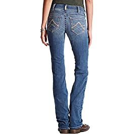 Women's Riding Mid Rise Straight Cut Jean