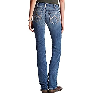 Ariat Women's R.E.A.L. Riding Mid Rise Straight Cut Jean