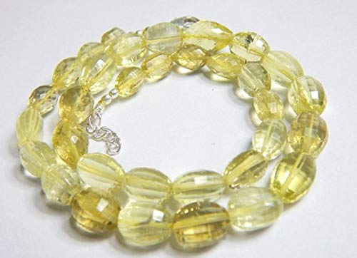 Super Quality Gemstone Beautiful Jewelry Lemon Quartz Micro faceted Barrel Beads 1 Strand, 17