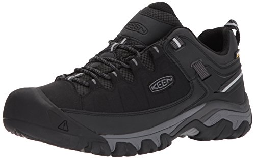KEEN Men's Targhee EXP WP Hiking Shoe, Black/Steel Grey, 12 M ()