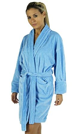 f7752417aa Image Unavailable. Image not available for. Color  Aegean Apparel Solid  Terry Cloth Bathrobe
