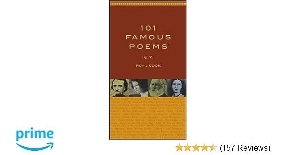 Amazoncom 101 Famous Poems 9780071419307 Roy J Cook Books