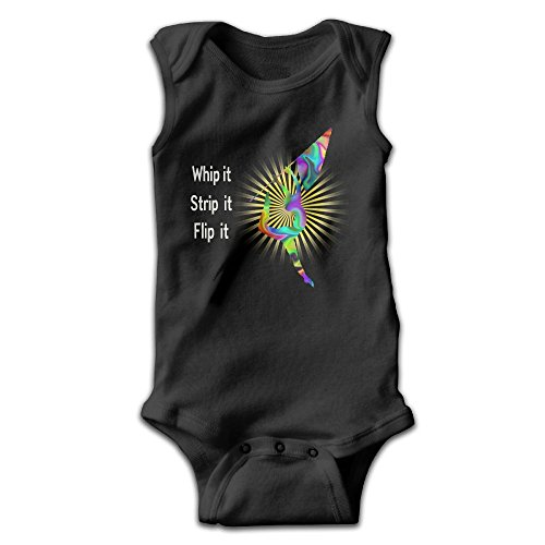 Ahfeb Ovasvqq Unisex Neutral Sleeveless Baby Colorgurad Flag Whip It Strip ItOnesies Baby Showers Gifts Sizkey (Strip Whip)