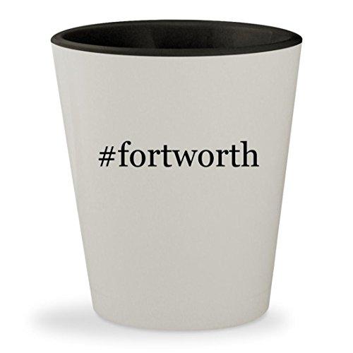 Price comparison product image fortworth - Hashtag White Outer & Black Inner Ceramic 1.5oz Shot Glass