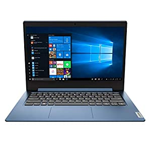 Lenovo IdeaPad 1 14.0″ HD Laptop, Intel Pentium Silver N5030, 4GB , 128GB SSD, Windows 10 S, Ice Blue