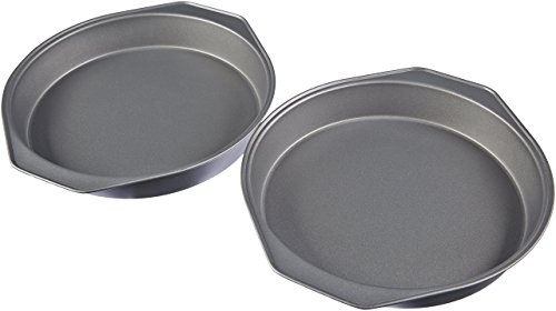 AmazonBasics Nonstick Carbon Steel Round Baking Cake Pan, 9 Inch, Set of 2 (Cake Pan Razorback)