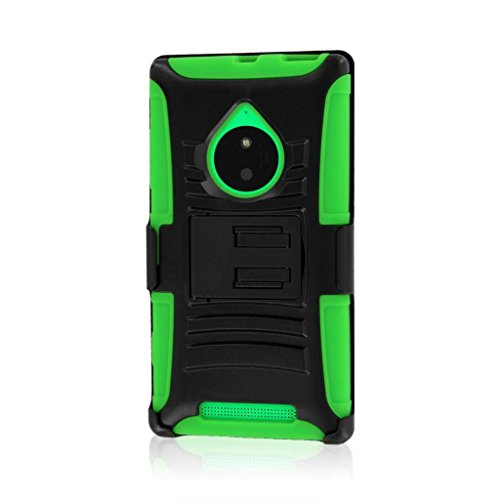 Lumia 830 Belt Clip Case, MPERO Impact XT Series Kickstand Case and Belt Clip Holster for Nokia Lumia 830 - Neon Green (Nokia 830 Case Holster)
