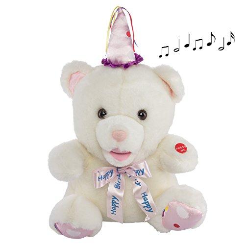 Happy Birthday Animatronic Singing Plush Teddy Bear Musical Stuffed Animal Toy - Musical Happy Birthday Bear