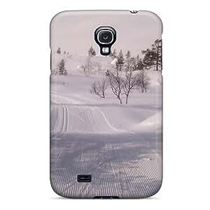 GBOoLdo7115TSCaq Case Cover Protector For Galaxy S4 Winter Snowtracks Case