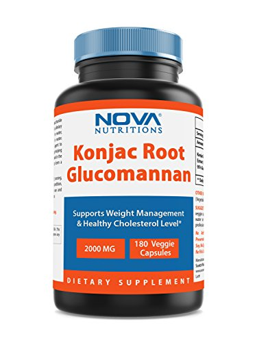 (Konjac Root 2000 mg per serving 180 Vcaps by Nova Nutritions (Also Known as Glucomannan root))