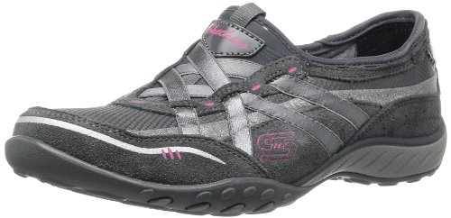 Skechers Sport Dames Ademen Easy Memory Foam Fashion Sneaker Houtskool