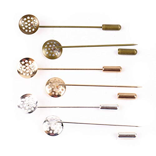 (Pomeat 30 Sets 3 Color Copper Coat Stick Pin with Clutch Brooches for Badge, Corsage and Jewelry Craft Making, 2.5'' Long)