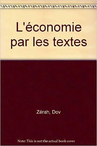 Livres L'économie par les textes epub pdf
