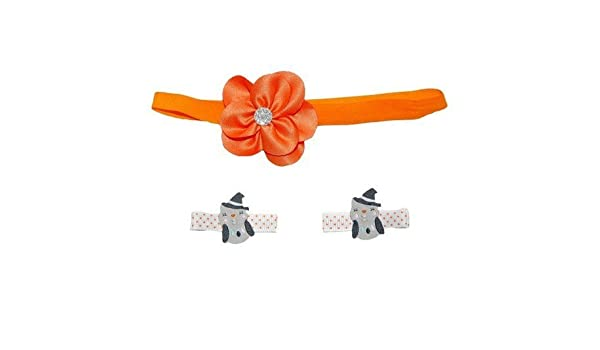 42d7a7039 Amazon.com: Carter's Baby Girls' Halloween Hairband and Hair Clips Set by Just  One You: Beauty