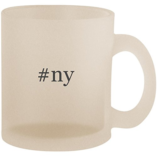 #ny - Hashtag Frosted 10oz Glass Coffee Cup Mug
