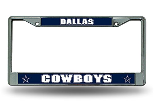 Dallas Cowboys Metal Chrome License Plate Frame Auto Truck Car -